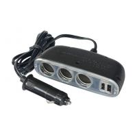 Wholesale Dual usb car charger cigarette lighter adapter , 5 way 12v cigarette lighter socket from china suppliers