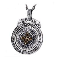 Wholesale Sterling 925 Silver Vintage Buddhism Blessings Charm Pendant Necklace for Women Men (060396) from china suppliers