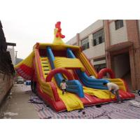 Wholesale Big Commercial Inflatable Slide , Cock Inflatable Double Slip And Slide from china suppliers
