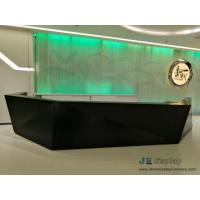 China Commerical Office buliding Geometric Round Reception counters made by China factory with Storage drawer and Stone table on sale