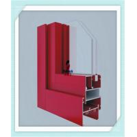 China Anodized Flat Open Window Aluminum Profile For Glass Wall Red Color ISO Certification for sale