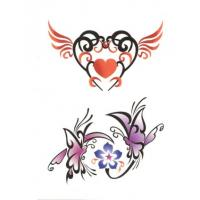 China OEM/ODM flower glitter body transfer tattoos stickers on sale