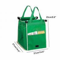 Reusable Large Grocery Supermarket Grab Tote Shopping Cart Bag with Cart Clip grocery shopping bags for sale