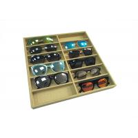 Wholesale Eco-friendly Linen Sunglasses Display Tray / Eyeglasses Storage Case from china suppliers