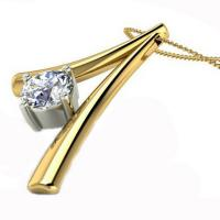 Wholesale Gold Plated  Fashion Jewelry Necklaces Diamond Necklace Design For Lover from china suppliers