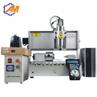 China AMAN high quality mini cnc carving machine 3040 4 axis  wood engraving carving cutting machine for sale on sale