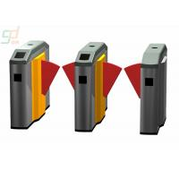 Wholesale Remote Control Flap Barrier Gate Double Red Wings Metro Magernment Turnstiles from china suppliers
