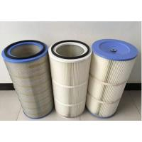 Wholesale HEPA Air Pleated Filter Cartridge For Dust Collector 0.2 Micron Porosity from china suppliers