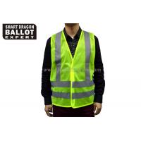 Quality 100% Polyester Fluorescent Yellow Security Vest Clothes Reflective Vest Safety Equipment for sale