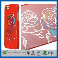 Wholesale Gold Siliver Foil Bling Flowers Snap-On Apple Iphone 5S Smartphone Back Cover from china suppliers