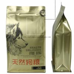 China Pet Food Custom Packaging Bags Plastic Aluminum Foil Square Bottom With Ziplock for sale