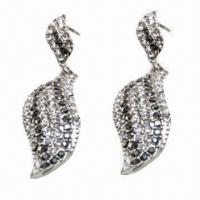 Wholesale Fashionable Stud Earrings in Leaf Design, Suitable for Parties/Anniversaries from china suppliers