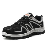 Wholesale Cotton Lining Safety Footwear Trainers , Men Sport Style Safety Shoes from china suppliers