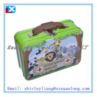 Wholesale handle tin box,lunch tin box with handle, full colour printing from china suppliers