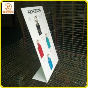 China OEM/ODM customzied L shape white color acrylic keychain display on sale