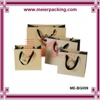 Wholesale Luxury paper shopping bags with ribbon handle/Bespoke garment paper bags ME-BG009 from china suppliers