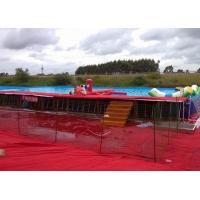 Wholesale Customized Portable Outdoor Above Ground Metal Frame Swimming Pools EN14960 from china suppliers