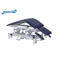 China Height Adjustable Medical Office Exam Tables Electric 5 Sections On Casters for sale