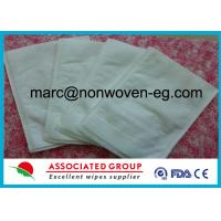 China Disposable Wash Gloves Made of Highly Absorbent Non Woven Polyester / Viscose Material on sale