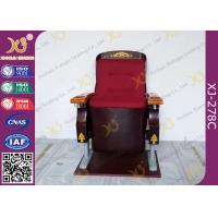 China Antique Solid Wood Auditorium Chairs With Solid Wood Armrest And Cup Holder on sale
