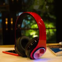 Wholesale BH3 Glowing Headphones Bluetooth 4.1 Wireless Stereo Portable Foldable Headphone TF Card LED Light Wired Earphone Mic fo from china suppliers