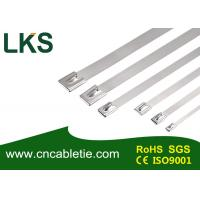 4.6*200mm SS316 grade Ball-lock stainless steel self-locking cable tie
