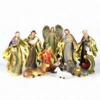 Wholesale Religious Polyresin Statues with 11 Pieces Manger Set, Measures 9 Inches from china suppliers