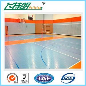 Basketball Interlocking Rubber Floor Tiles PP Commercial Rubber Flooring