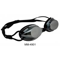 Wholesale Wide Black Mirrored Professional Swimming Goggles Anti Fog and UV Protection from china suppliers