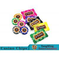 Wholesale Entertainment 12g 760pcs Custom Poker Chip Sets With Anti - Off Film Protection from china suppliers