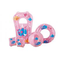 Wholesale Pink Color Inflatable Armbands Premium Quality Kids Swimming Pool 5 Pieces Set from china suppliers
