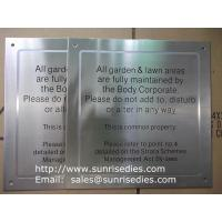 Wholesale Satin brush stainless steel sign plaque, black enamel brushed S.S. sign plate from china suppliers