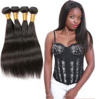 Wholesale Unprocessed Straight Remy Human Hair Weave Natural Black Color Thick Bottom from china suppliers