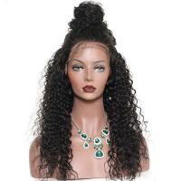 Glam 180 Density Brazilian Virgin Full Lace Human Hair Wigs With Baby Hair for sale