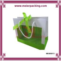 Wholesale Fancy shopping paper bags with PET window, cotton handle paper gift bags ME-BG013 from china suppliers