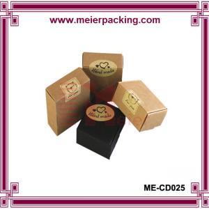 Wholesale Foldable kraft handmade soap box/Natural soap kraft paper box ME-CD025 from china suppliers