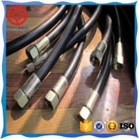 Wholesale DIN EN 856 1 3/4'' inch spiral wire hydraulic rubber hose for lifting equipment from china suppliers