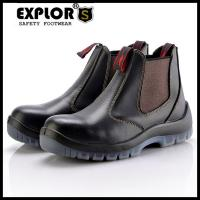 China Men's safety boots slip-on boots men's steel toe work boots black on sale