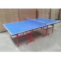 Waterproof Full Size Outside Table Tennis Table , Blue Color Outdoor Ping Pong Table