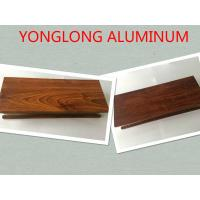 Wholesale Aluminium Wood Grain Door Profiles Colour / Length / Shape Customized from china suppliers