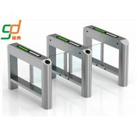 Wholesale Blue Wing Automatic Turnstiles Single Or Dual Passage Swing Barrier Gate from china suppliers