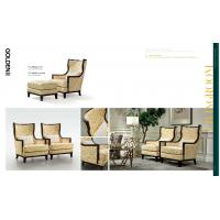 Wholesale American style light luxury furniture of fabric leisure chairs used maple wood structure with Fabric upholstered from china suppliers