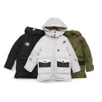 China Bilemi boys solid long hooded fashion duck down jacket baby snowsuit kids winter coat for sale