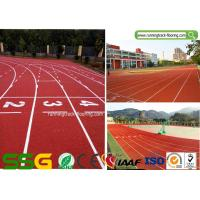 Wholesale IAAF Certified Synthetic Rubber Running Track With Spray Coating System from china suppliers
