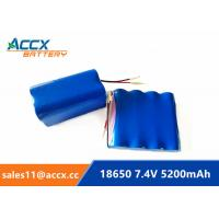 Quality li-ion 18650 battery pack 7.4V 5000mAh 5200mAh rechargeable battery with PCM protection 5C discharge for sale