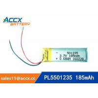 Wholesale 501235 pl501235 3.7v lipo battery with 185mAh polymer li-ion battery with PCM and wires from china suppliers