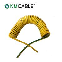 China Solar Light Tower coiled electrical cable 7 core0.75sqmm TPU flexible extension cord​ on sale