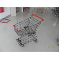 Buy cheap Zinc Plating / PPG Powder Coating Wire Shopping Trolley  45L For Small Market from wholesalers