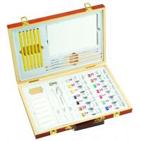 Wholesale Professional Childrens Art Set Wooden Box , Durable Artist Acrylic Paint Box Set from china suppliers