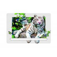 Wholesale 0.6mm Pet 5d Attractive White Tiger 7x11cm Magnets With Notepad For Refrigerator from china suppliers